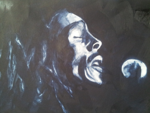 Bob Marley Oil Painting, Inspire Healing Art A Day Marathon